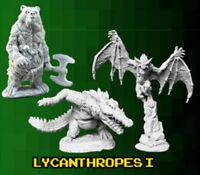 Reaper Miniatures - Bones 3 Kickstarter - Lycanthropes, Part I (3 Miniatures)