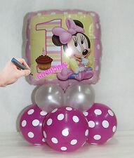 Kit centrotavola palloncini MYLAR PRIMO COMPLEANNO MINNIE BABY personalizzato