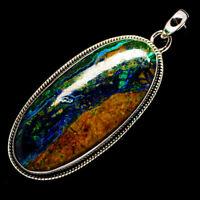 """Azurite In Malachite 925 Sterling Silver Pendant 2 1/2"""" Ana Co Jewelry P727640F"""