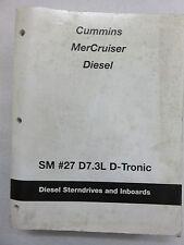 Cummins Mercruiser Service Repair Manual Diesel SM 27 D7.3L D-Tronic 90-861784-1