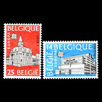 Belgium 1990 - EUROPA Stamps - Post Offices Architecture - Sc 1343/4 MNH