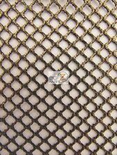 "FOIL FISHNET LINGERIE APPAREL FABRIC - Black/Gold - 58/60"" WIDTH SOLD BY YARD"