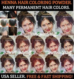 HENNA NATURAL BLACK HAIR DYE POWDER 6 PCS 60G COLOR GRAY&WHITE HAIR MEN&WOMEN