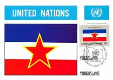 Carte Maximum FDC UNITED NATIONS drapeau Yougoslavie Edit 1980