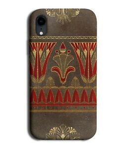 Red and Brown Rustic Egyptian Pattern Phone Case Cover Vintage Egyptians F483
