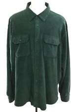 WRANGLER Soft Fleece Forest Green Button Up L/S Shirt sz 3XL