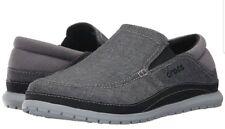 crocs Mens Santa Cruz Playa Slip-on Loafer,Graphite/Light Grey Relaxed Fit Sz 10