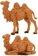 """Roman Fontanini 3.5"""" Collection Standing and Sitting Camel, Set of 2 (55017)"""