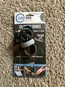 Every Ring Silicone Rings Size 9.5-10 Large Package of 5 New! Work Farm Ring