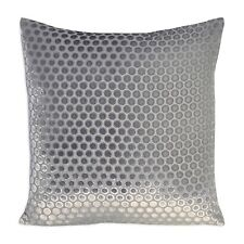 "Kevin O'Brien Studio Dots Velvet 20"" Square Decorative Pillow Grey $390 G2047"