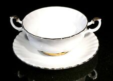 Beautiful Royal Albert Val D Or Cream Soup Bowl And Saucer