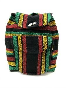 Authentic RASTA Bag Beach Hippie Baja Ethnic Small Backpack Made in Mexico 012