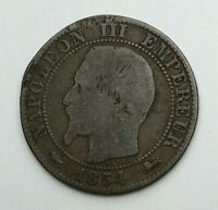 Dated : 1854 D - France - Cinq Centimes - 5 Centimes Coin - Napoleon III