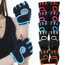 Men Women Half Finger Workout Gym Gloves Sport Weight Lifting Exercise Fitness #