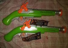 Disney Parks Pirates Of The Caribbean Flintlock Toy Pistols & Sound Set Of 2