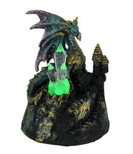 Zeckos Blue Dragon of Crystal Castle Color Changing LED Statue