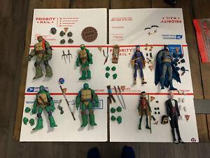 Batman Vs Teenage Mutant Ninja Turtles Complete Set TMNT GameStop Exclusive DC