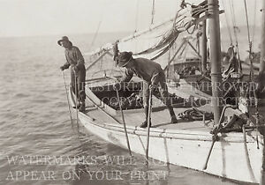 Mobile Bay AL Gulf oyster fishing boat 1911 photo CHOICE 5x7 or request digital