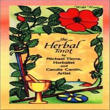 Herbal Tarot Deck Book By Michael Tierra English Cards 78 Pages Occult & Parano