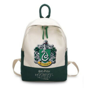 New Harry Potter Crest Green Slytherin Backpack School canvas Bag New
