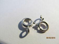 lot 2 fermoirs ressort argent massif 925/1000 - massive silver 925/1000 - 5 mm -