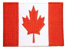 """Canada Flag Embroidered Patch Sew On/Écusson Drapeau Canada À Coudre (2.5""""X3.5"""")"""