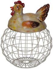 Anidación de Huevos Gallina De Resina & Metal soporte de almacenamiento de huevos de cocina país ~ QOV005