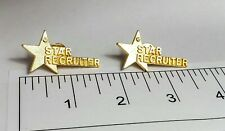Brooch with Free Shipping! Pin Brooches Two Star Recruiter Gold Tone Pins