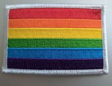"Gay Pride Rainbow Flag Iron On Patch 3"" x 2"" Free Shipping Pride PH181"