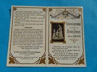 IMAGE PIEUSE HOLY CARD NOTRE DAME DE LA SALETTE INVOCATIONS
