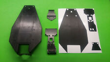 TEAM ASSOCIATED RC10T3 chassis protector skin BLACK CARBON FIBER look  rc10 t3