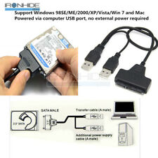 USB 3.0 SATA 7&15Pin to USB 2.0 Adapter Cable For 2.5 HDD Laptop Hard Disk Drive