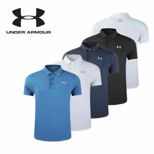 UK NEW Under Armour Mens UA Golf Sports Polo Shirt Smooth Shirts Tops