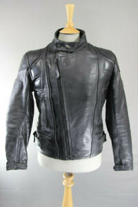 APACHE LEATHERS CLASSIC BLACK 'INDY' BIKER JACKET 38 INCH