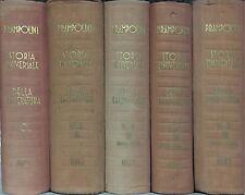 STORIA UNIVERSALE DELLA LETTERATURA - G. Prampolini - UTET 1933-38 - 5 VOLUMI