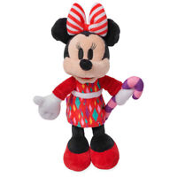 """Disney Authentic Holiday Minnie Mouse Mini Bean Bag Plush Toy Doll 10"""" H New"""