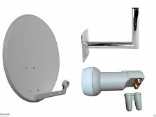 Universal 60CM Satellite Dish With Wall Mount & Twin LNB