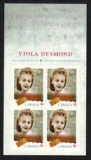 VIOLA DESMOND = BLACK HISTORY = DESCRIPTION,BOOKLET PAGE 4 MNH Canada 2012 #2521