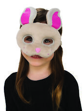 Childs Brown Bunny Plush Animal Easter Costume Accessory Mask