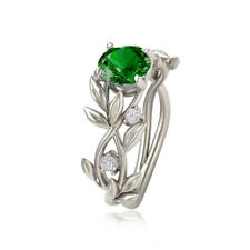 1PC Women Fashion Jewelry  Cubic Zirconia Branch Leaf Band Ring Size 5-11