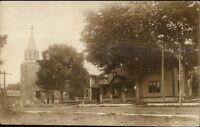 Church & Bldg - Lake Champlain NY or VT Written on Back Real Photo Postcard