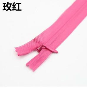 Colourful Handmade Close End Nylon Invisible Zippers pillow skirt Sewing tools