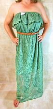 TRIXXI STYLISH STRAPLESS BELTED OLIVE CROCHET LINED PLUS SIZE DRESS 1X NWT