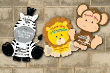 Jungle Safari Baby Shower or Birthday Favor Tags Thank You Tag Favors Decoration