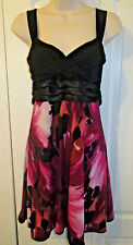 City Triangles women's size M 10 12 dress fully lined, crinoline, tie back sash