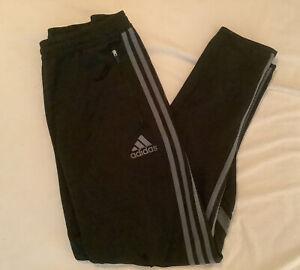 Adidas Climacool black/gray stripes Zippers Athletic Pants Sz M