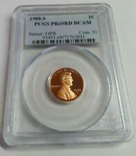 PCGS PR 69 RD DCAM Red Deep Cameo 8019 1988 S Proof Lincoln Memorial Cent