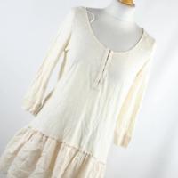 H&M Womens Size M Ivory Plain Cotton Top