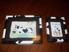 FIGI GRAPHICS COW 8 x10 PIG 5 x 7 HAND AND CAST PAPER