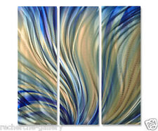 Metal Wall Art Sculpture Home Decor Delighted by Ash Carl Abstract Blue Decor